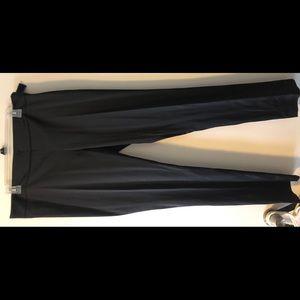 Black satin tuxedo pant